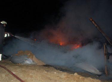 Tekirdağ'da çöpleri yakmak için yakılan ateş eve sıçradı