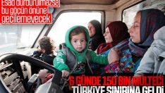Türkiye sınırına 148 bin sivil daha göç etti