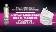 İhtiyaç sahiplerine 1000 lira dağıtılacak