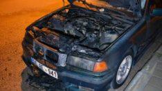 Adana'da otomobili yakıp sahibinin evine ateş açtı