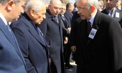 Bahçeli, Kılıçdaroğlu'nun elini sıkmadı