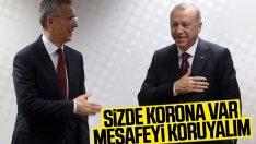 Brüksel'de Cumhurbaşkanı Erdoğan'dan korona önlemi