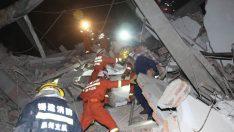 Çin'de korona hastalarının bulunduğu otel çöktü