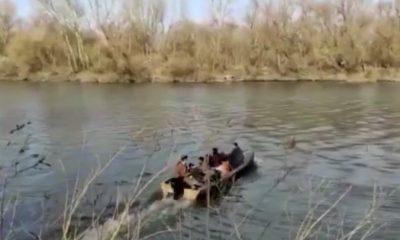Göçmenlerin Meriç Nehri'ni geçtiği anlar