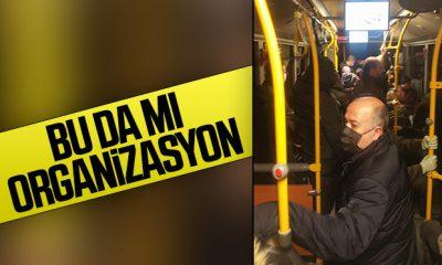 İBB'nin otobüslerinde hala sosyal mesafe kuralı yok