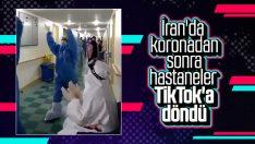 İran'da hastanede çalışanlar eğlenceden vazgeçmedi