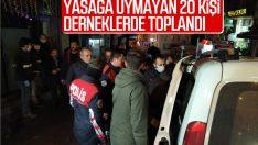 İstanbul'da yasağa uymayan 2 dernekte 20 kişi toplandı