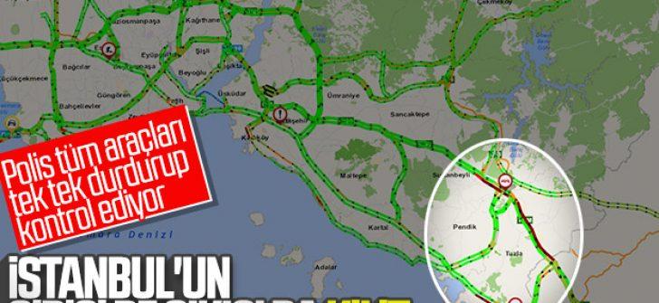 İstanbul'un giriş-çıkışında koronavirüs kuyruğu