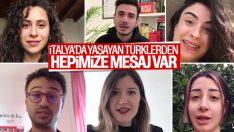 İtalya'daki Türk gençlerden ana vatana koronavirüs mesajı