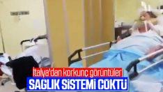 İtalya'dan gelen hastane içi görüntüler