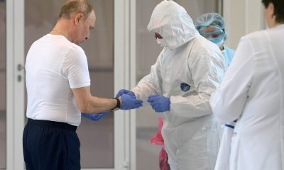 Putin'den korona hastalarına ziyaret
