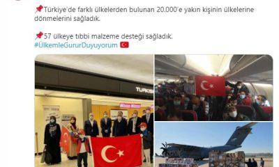 60 binin üzerinde Türk vatandaşı ülkeye getirildi