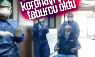 95 yaşındaki İsmail Amca koronavirüsü yendi