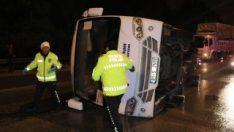 Adana'da işçi servisi kaza yaptı: 1 ölü 6 yaralı