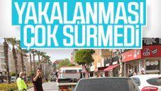 Antalya'da drift yapan ehliyetsiz sürücü, polisi görünce kaçtı