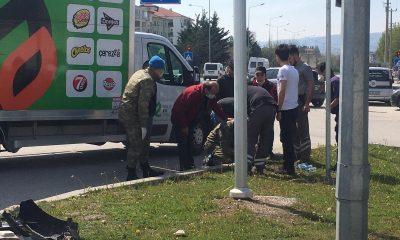 Bolu'da askeri ambulans, araçla çarpıştı: 5 yaralı