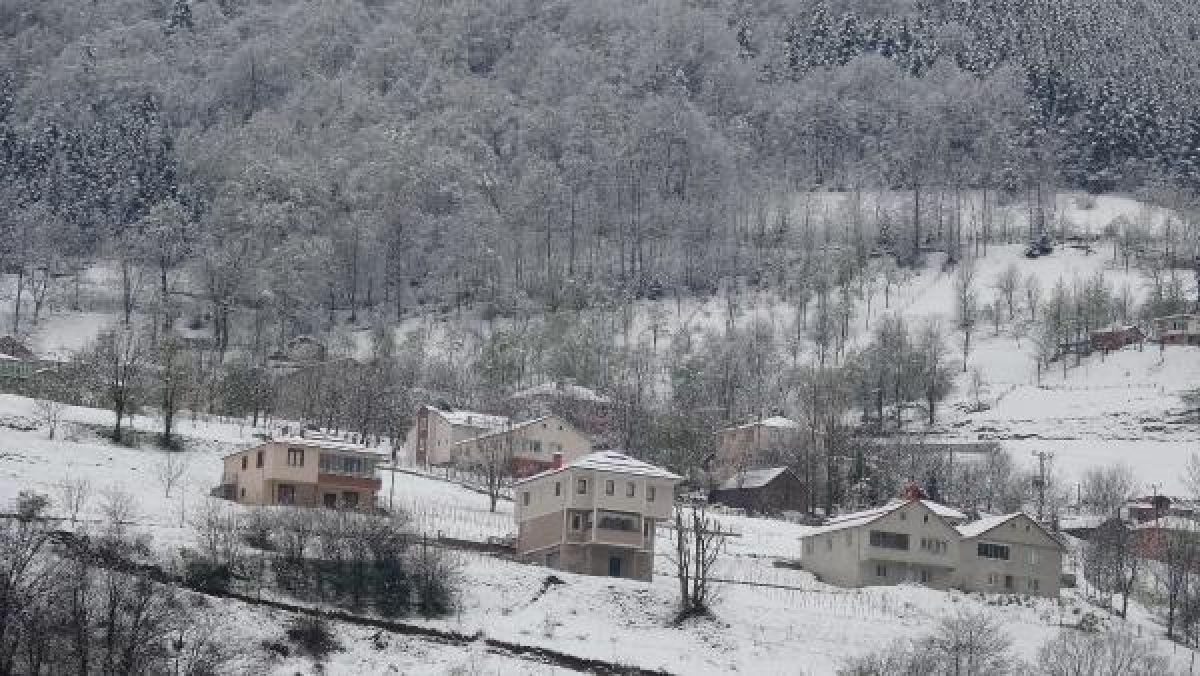 Doğu Karadeniz'in yükseklerinde kar yağışı -4