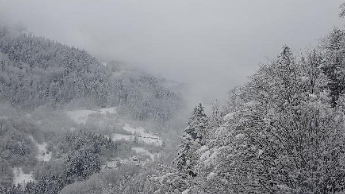 Doğu Karadeniz'in yükseklerinde kar yağışı -5