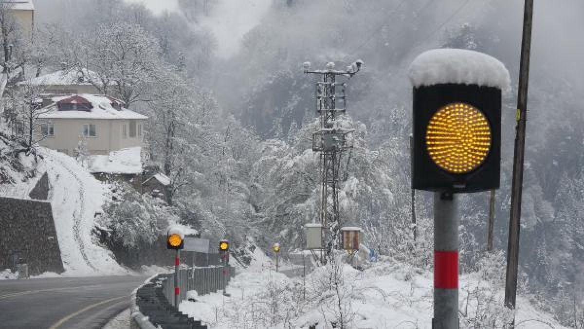 Doğu Karadeniz'in yükseklerinde kar yağışı -6