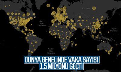 Dünya genelinde korona vaka sayısı 1.5 milyonu aştı