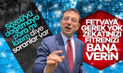 Ekrem İmamoğlu, belediye için fitre ve zekat istedi
