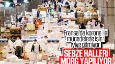Fransa'da sebze hali morg yapıldı