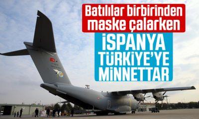 İspanya, 'Türkiye'nin dayanışma ve jestine' teşekkür etti