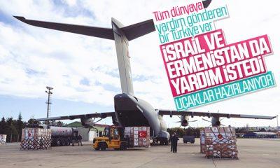 İsrail ve Ermenistan'dan Türkiye'ye yardım talebi