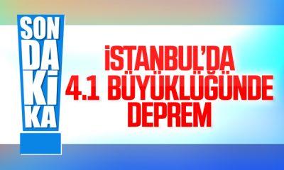 İstanbul'da 4.1 büyüklüğünde deprem