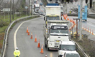 İstanbul'un giriş ve çıkışında araçlar kontrol ediliyor