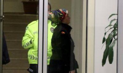 Kayseri'de binalara sıvı süren kadın gözaltına alındı