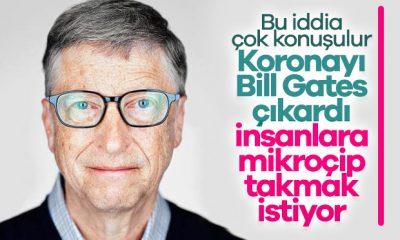 Koronavirüsü Bill Gates oluşturdu iddiası