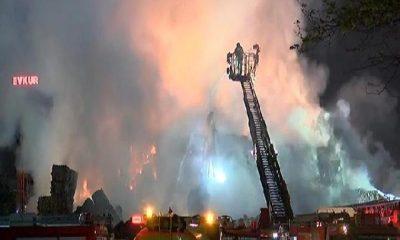 Küçükçekmece'deki fabrika yangını yeniden alev aldı