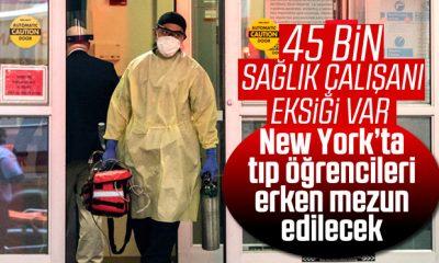 New York'ta tıp öğrencileri, korona nedeniyle erken mezun olacak