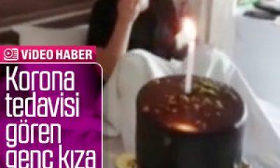 Rize'de korona tedavisi gören kızın doğum günü kutlandı