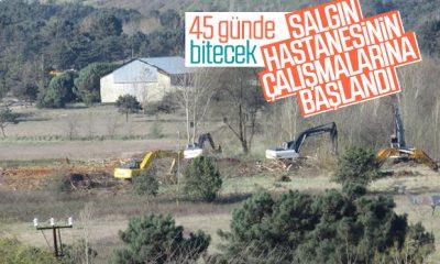 Sancaktepe'deki salgın hastanesinin yapımına başlandı