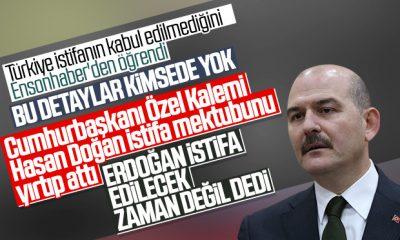 Süleyman Soylu'nun istifa mektubu yırtıldı