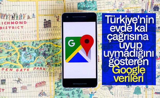 Türkiye'nin evde kalıp kalmadığını gösteren konum verileri paylaşıldı