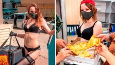 Rusya'da striptizciler pizza teslimatında çalışmaya başladı