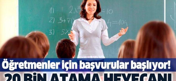 20 bin öğretmen ataması için başvurular 1 Haziran'da başlıyor