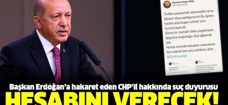 CHP Gençlik Örgütleri İzmir İl Sekreteri Dila Kayurga hakkında suç duyurusu!