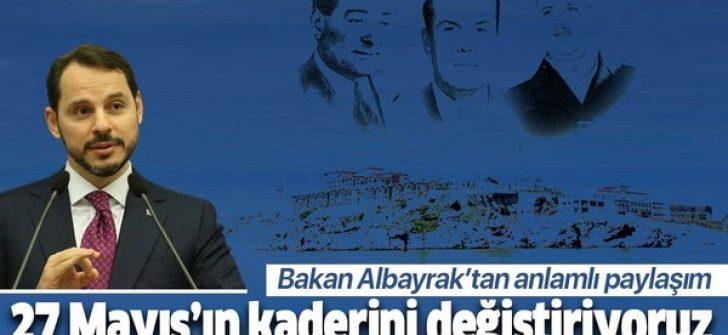 Bakan Albayrak'tan Demokrasi ve Özgürlük Adası paylaşımı
