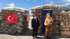 İkinci grup tıbbi yardım malzemeleri, Somali'ye ulaştı