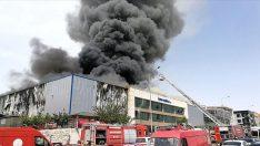 Tıbbi ekipman fabrikasında yangın