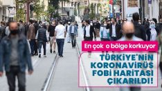 Koronavirüs fobisi Türkiye haritası