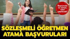 Sözleşmeli öğretmen atama duyurusunu