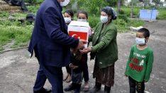 TİKA'dan Kırgızistan'daki Ahıska Türklerine gıda ve hijyen malzemesi desteği