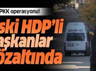 Son dakika: Diyarbakır merkezli 7 ilde PKK operasyonu! Eski HDP'li başkanlar gözaltında
