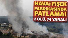Sakarya'da havai fişek fabrikasında patlama: 2 can kaybı, 74 yaralı