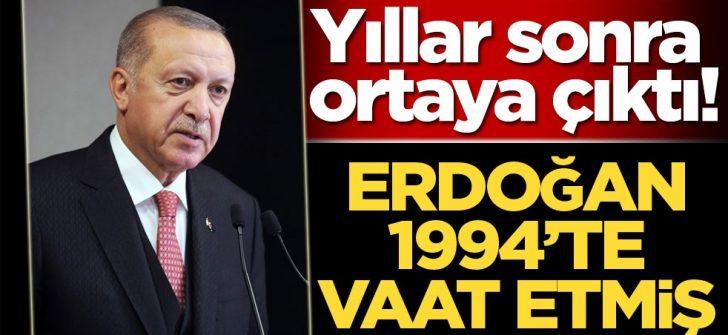 Erdoğan Ayasofya'yı 1994'te vaat etmiş
